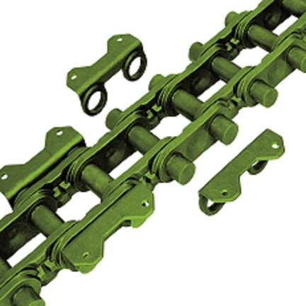 Central chain for bucket elevators