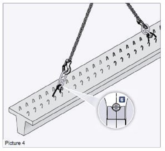 Crane Vertical Lift using lifting hoops